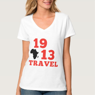 1913 viajes con cuello de pico camiseta