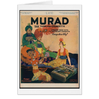 1918 anuncio turco del cigarrillo de Murad,