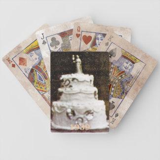 1939 que casa naipes antiguos de la torta cartas de juego