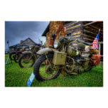 1942 militares Harley Davidson Impresiones