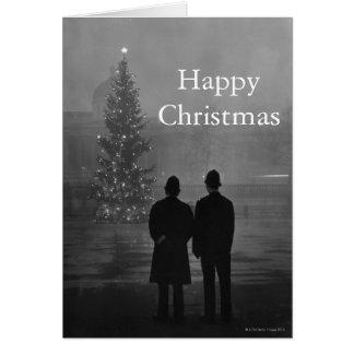 1948: Árbol de navidad del respeto de dos policías Tarjeta De Felicitación