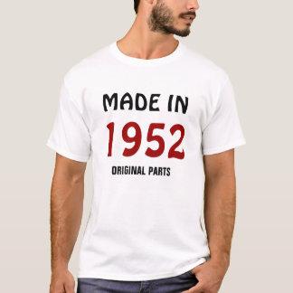 """1952: """"Hecho en 1952, camiseta de las piezas"""