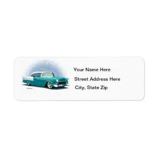 1956 etiquetas de dirección verde azuladas del