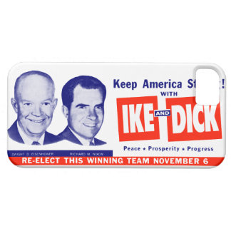 1956 voto Ike y Dick iPhone 5 Case-Mate Cárcasas