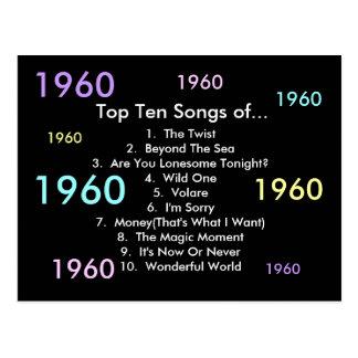 1960 canciones postal