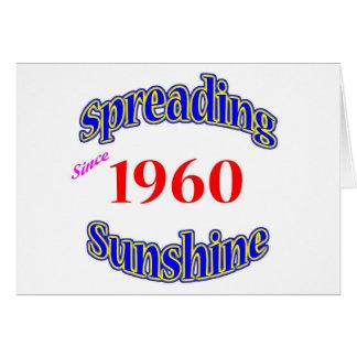 1960 soles de extensión tarjeta de felicitación