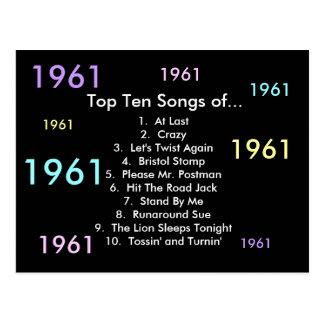 1961 canciones postal