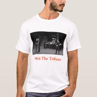 1964 camiseta negra y blanca del tributo