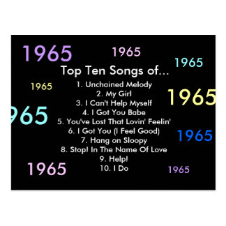 1965 canciones postal