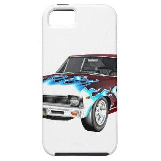 1968 coches blancos y azules rojos del músculo funda para iPhone SE/5/5s