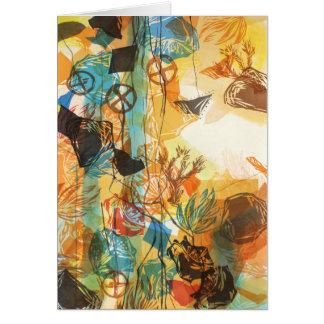 1972, antes de tarjeta abstracta de las amapolas