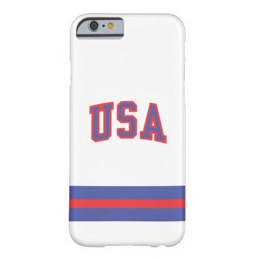 1980-USA caso del iPhone 6 Funda De iPhone 6 Barely There