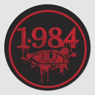 1984 PEGATINA REDONDA