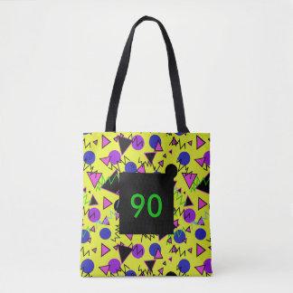 1990 geométricos intrépidos bolso de tela