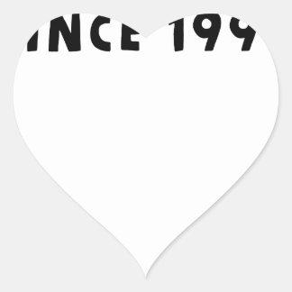 1990 PEGATINA EN FORMA DE CORAZÓN