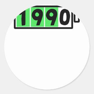 1990 PEGATINA REDONDA