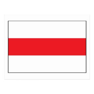 1991) postales de Bielorrusia Flag (