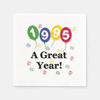 1995 servilletas de papel de un cumpleaños del