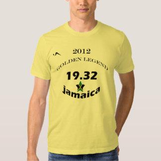 19,32 Camiseta de oro de la leyenda de Jamaica