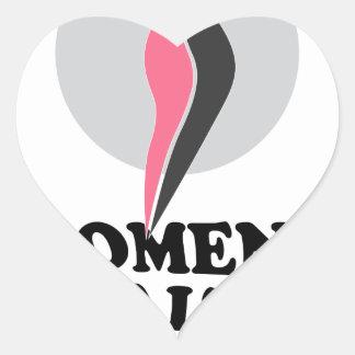 19 de enero - día sano del peso de las mujeres pegatina en forma de corazón