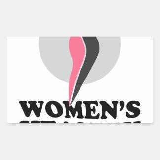 19 de enero - día sano del peso de las mujeres pegatina rectangular