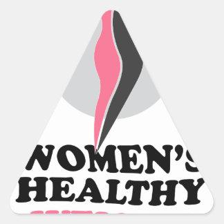19 de enero - día sano del peso de las mujeres pegatina triangular