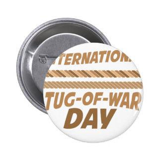 19 de febrero - día internacional del esfuerzo chapa redonda de 5 cm