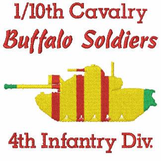 1/10o Cav. 4to Inf. Div. Camisa de M48A3 Patton Camiseta Polo Bordada