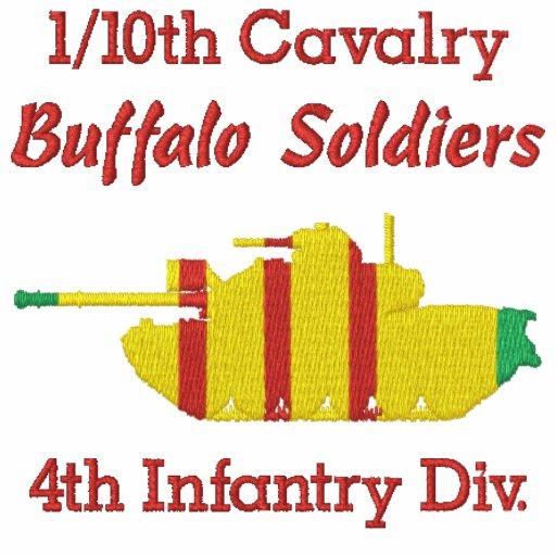1/10o Cav. 4to Inf. Div. Camisa de M48A3 Patton Camiseta Polo