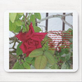 1 13:4 del Corinthian - el amor 8 es ..... Mousepa Alfombrilla De Ratón