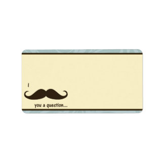 """1,25"""" x 2,75"""" bigote de envío de la dirección I Etiquetas De Dirección"""