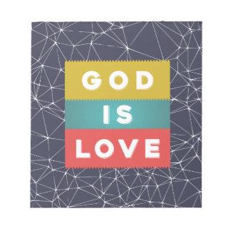 1 4:8 de Juan - dios es amor Bloc De Notas