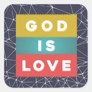 1 4:8 de Juan - dios es amor Pegatina Cuadrada