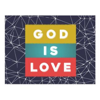 1 4:8 de Juan - dios es amor Postal