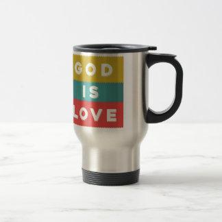 1 4:8 de Juan - dios es amor Taza De Viaje