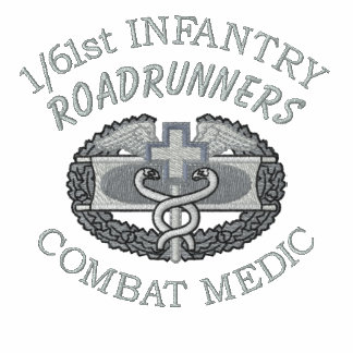1/61o Inf. Camisa bordada insignia médica del