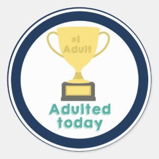 #1 adulto, pegatina para ser un buen adulto