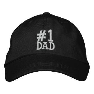 #1 casquillo bordado PAPÁ del número uno Gorra De Beisbol