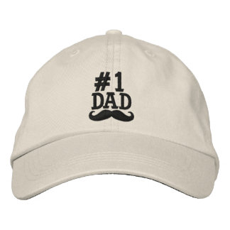 #1 casquillo bordado PAPÁ del número uno Gorros Bordados
