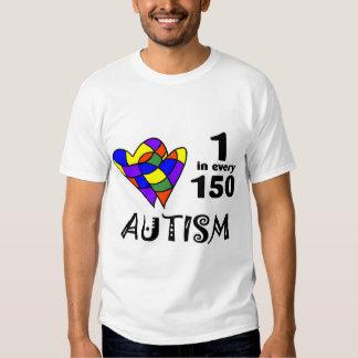 1 en 150 (dos corazones) camiseta