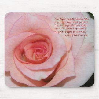 1 estafa Rosa Mojada de Juan 4-18B Alfombrilla De Ratón