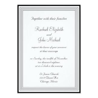 1 invitación blanco y negro del boda invitación 12,7 x 17,8 cm