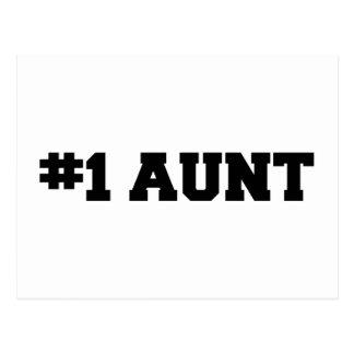 #1 la tía, tía #1, numera a 1 tía, la mejor tía postal