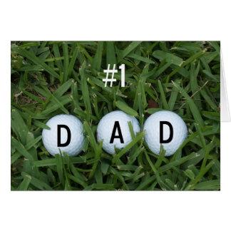 # 1 tarjeta del día de padre del papá -- Pelotas