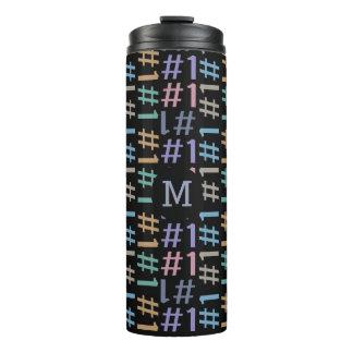 """""""# 1"""" vaso de encargo del monograma del modelo"""