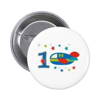1r Aeroplano del cumpleaños Pins