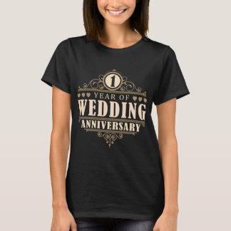 1r Aniversario de boda (esposa) Camiseta