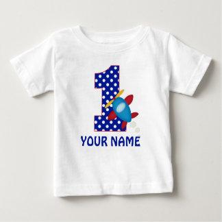 1r Camisa personalizada aeroplano del muchacho del