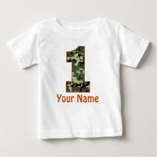 1r Camisa personalizada cumpleaños de Camo