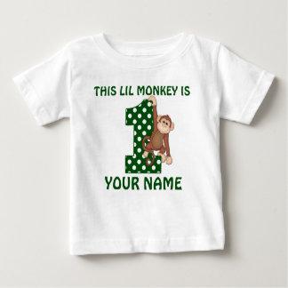 1r Camisa personalizada mono del muchacho del